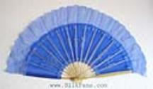 Blue Silk Dance Fan
